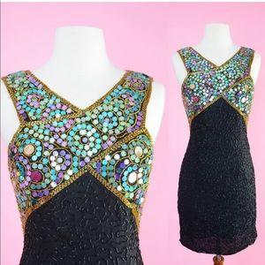 Vintage 90s Sequin Party Dress